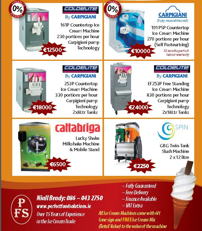 new and used ice cream equipment Ireland